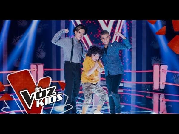 Daniel, Lukas y Pipe cantan en las Súper Batallas | La Voz Kids Colombia 2019
