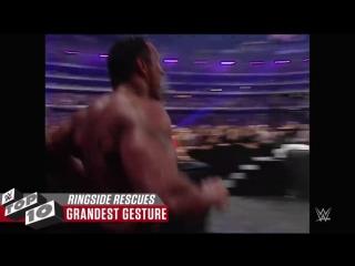[WWE] Amazing ringside rescues: WWE Top 10, July 21, 2018