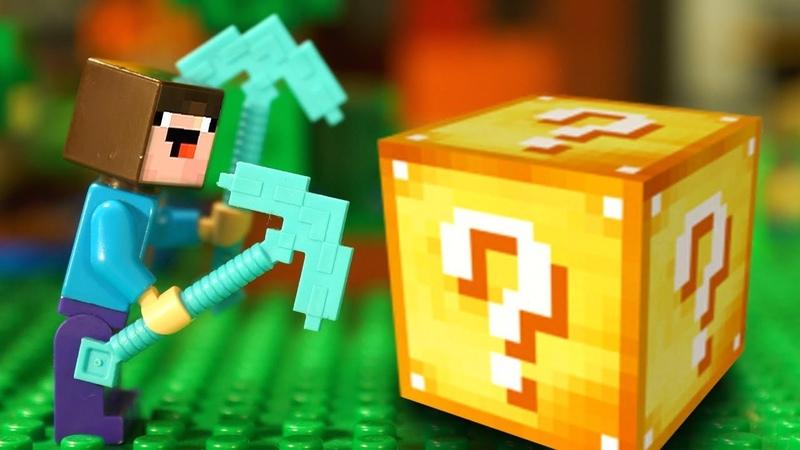 СТИВ ВЕРНУЛСЯ 🔸 Лаки Блоки и Лего НУБик Майнкрафт Мультфильмы для Детей - LEGO Minecraft Мультики