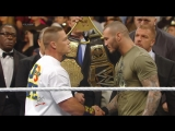 WWE Monday Night Raw 9th December 2013 - A confrontation between John Cena and Randy Orton ended in a brawl
