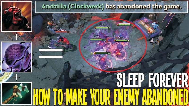 How to make your enemy Abandoned New Bug Sleep Forever | Dota 2 Silly Game