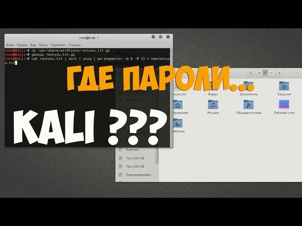 Словарь с паролями в Kali Linux?