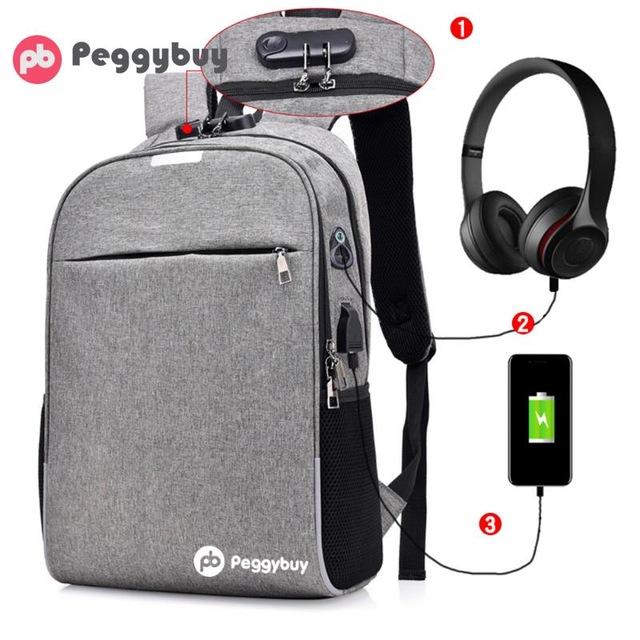 Рюкзак анти-вор с USB - рюкзак -