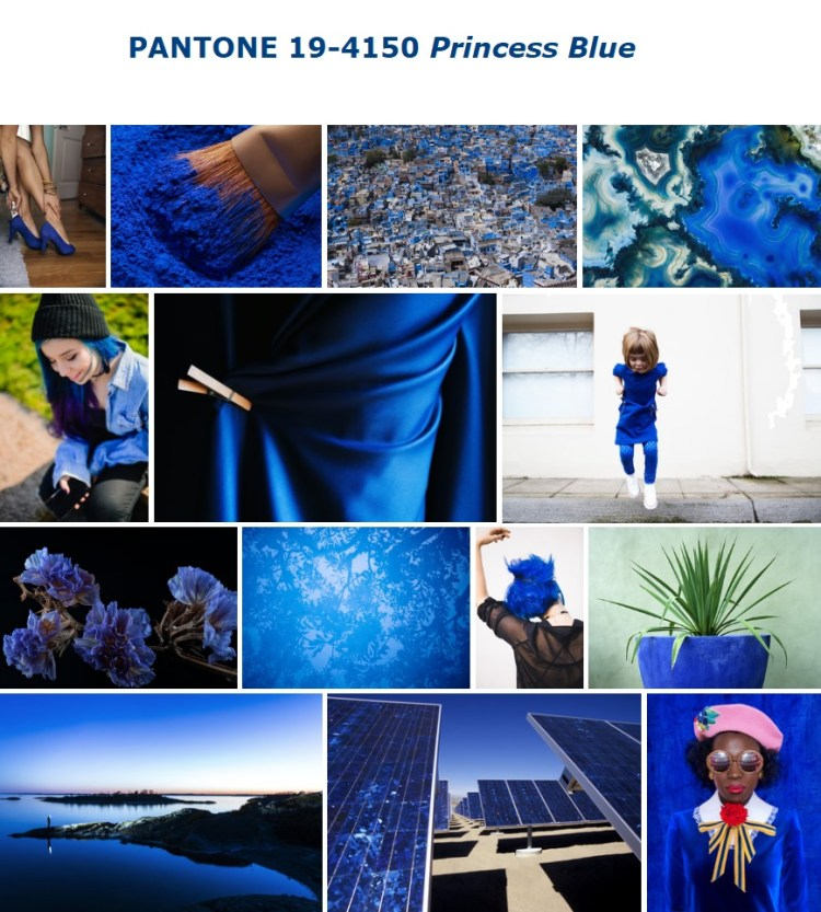 PANTONE 19-4150 Princess Blue Принце��а �иний