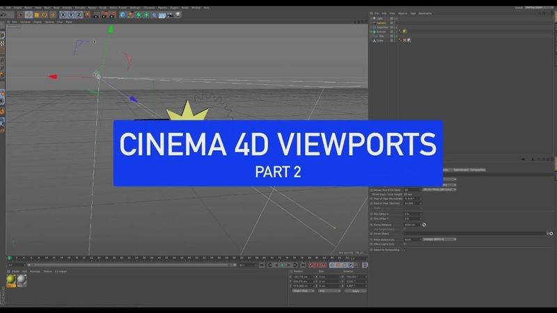 CINEMA 4D Back to Basics Viewports Part 2