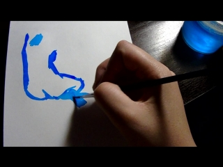 Голубая натурщица