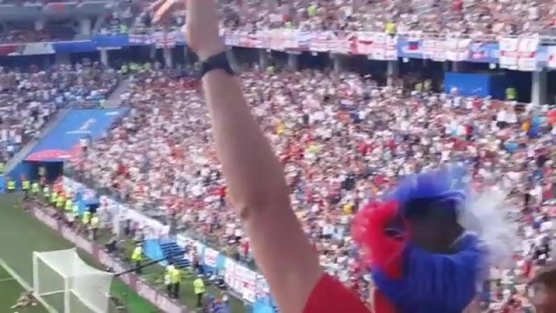 Первый гол забитый Англией