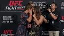 Joanna Jedrzejczyk vs. Tecia Torres UFC on FOX 30 Media Day Staredown - MMA Fighting