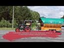Колоритный болельщик едет по Вологодской области на тракторе с пивной бочкой