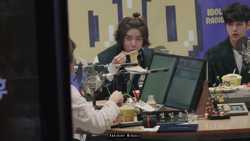 181226 아이돌라디오 컵라면 먹방 - SF9 휘영