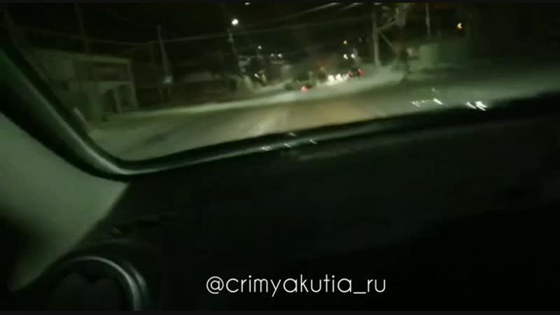 ДТП на перекрестке улиц Чайковского и Каландаришвили в Якутске.15.12.18