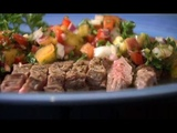 Peach Chimichurri and Skirt Steak Recipe - Farm to Fork with Sharon Profis America's Heartland