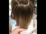 Окрашивание блонд с углублённым корнем