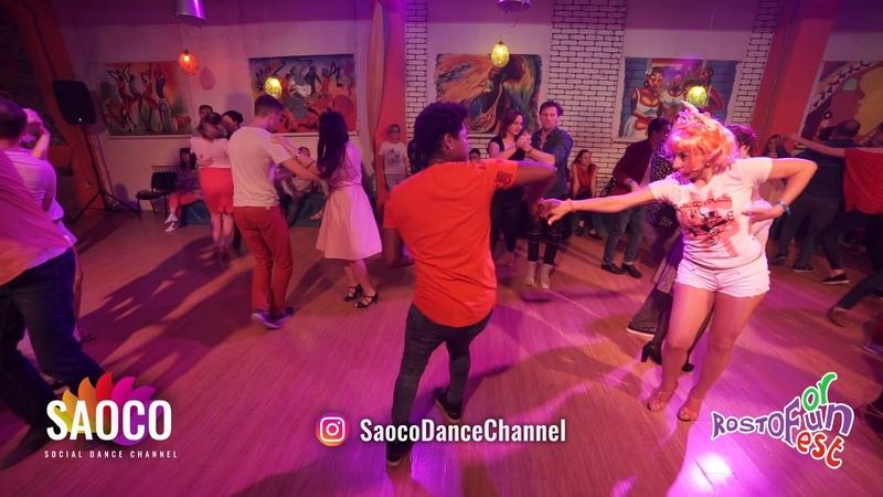 Falco Benalcazar and Albina Terehova Salsa Dancing at Rostov For Fun Fest 2018, Fri 02.11.2018 (SC)