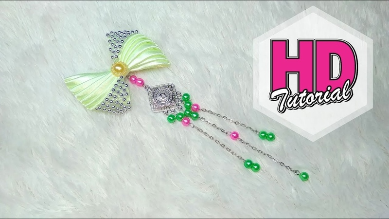DIY - Cara Mrmbuat Bros Juntai || Simple Kanzashi Flower || Satin Ribbon Flower || HD Tutorial