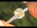 Fancy Yellow White Diamond Ring 18k Gold Certified Estate GEM 0.78 TCW - C1102