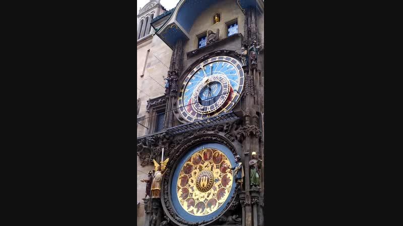 Чехия, Прага. Астрономические часы на Староместской площади