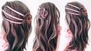 ЛЕТНЯЯ ПРИЧЕСКА с ЛЕНТОЙ из прямых волос. Прическа на ДЛИННЫЕ ВОЛОСЫ. Easy Ribbon Hairstyles