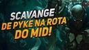 Entenda como SCAVANGE ganha a MAIORIA das partidas de Pyke jogando em ROTAS - League of Legends