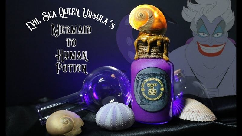 Ursula's Mermaid to Human Potion : DIY Potion Prop Bottle : The Little Mermaid : Ariel's Voice Shell
