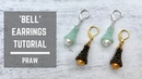 Bell earrings tutorial Prismatic Right Angle Weave Beaded Earrings