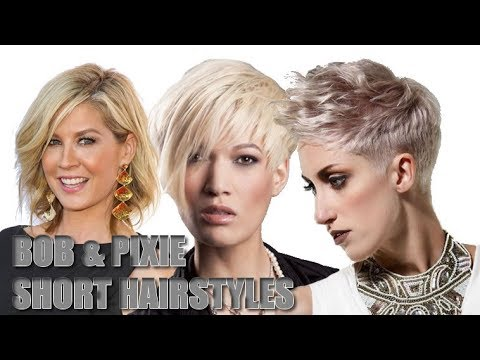 Pixie hair and Bob hairstyles collection for lovers of easy short haircuts