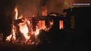 В Кингисеппском районе пожар уничтожил дом и нанёс ущерб хозяйственным постройкам