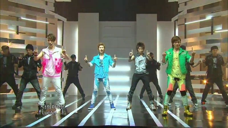 100724 SHINee - Lucifer at Show Music core Comeback Stage