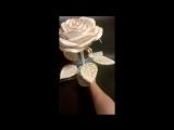 роза в ажуре золото