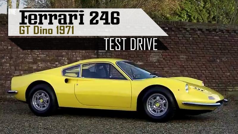 FERRARI 246 GT DINO 1971 - Test drive in top gear - V6 Engine sounds! | SCC TV