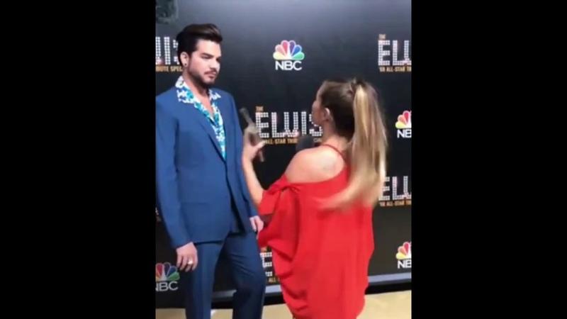 Adam Lambert BTS Interview Bloopers at Elvis All Star Tribute
