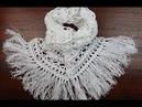 Crochet Bufanda en Punto Peruano