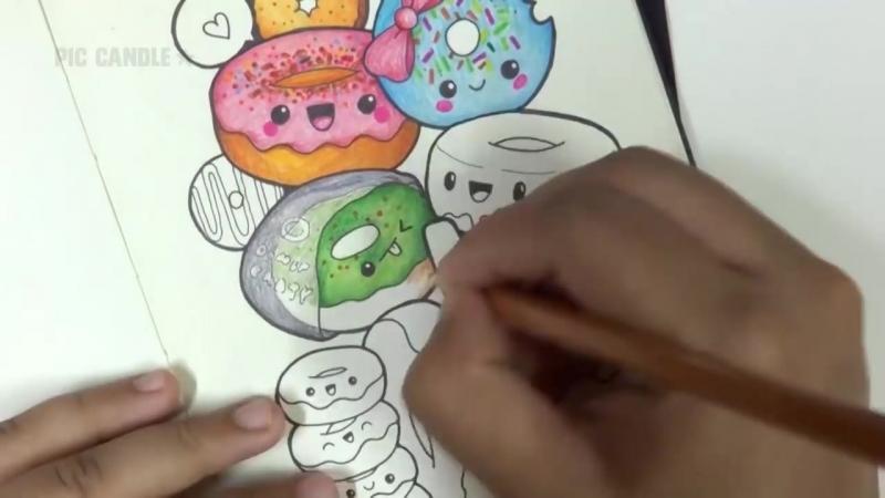 Donut Party | Moleskine Doodle (by PicCandle)