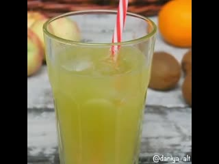 Лимонад из киви и цитрусов