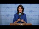 Nikki Haley US stands by Israel, slams UN's anti-Israel obsession (full Q&ampA, close captions, HD)