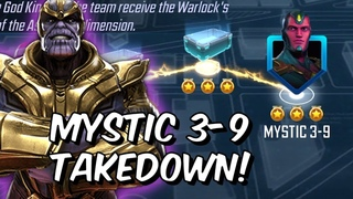 7 Star Thanos Rank Up and Mystic 3-9 Takedown!! - God King Thor - Marvel Strike Force
