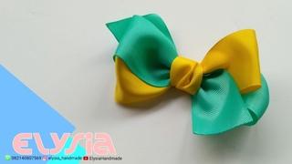 Lao Simple Two Tone  Ribbon Bow  DIY by Elysia Handmade
