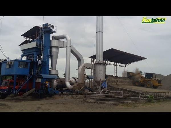 Asphalt Mixing Plant at Work | Batch Mixing Process | How does Asphalt Plant Work