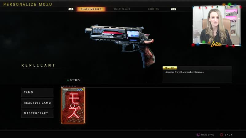 First footage of the Mozu Replicant Mastercraft (all 3 stages). Only available in Reserves, Tier 101. Black Ops 4