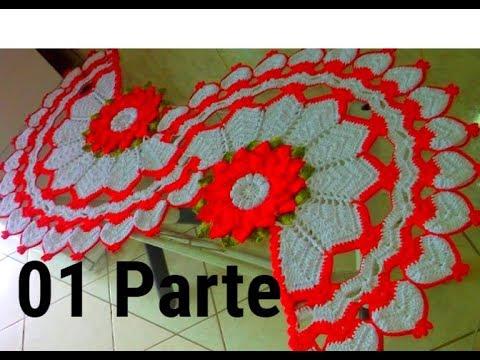 Caminho de mesa Natalino em crochê,para ser usado no Especial e festas de Natal, na Noite de Natal.