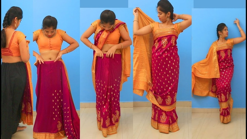 How to Wear Different Styles of Wearing Saree |Wedding to Look Slim Tall Tips to Drape Saree Pallu