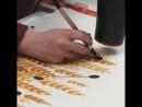 Роспись по ткани в технике батик Процесс создания рисунка для платья из хлопка
