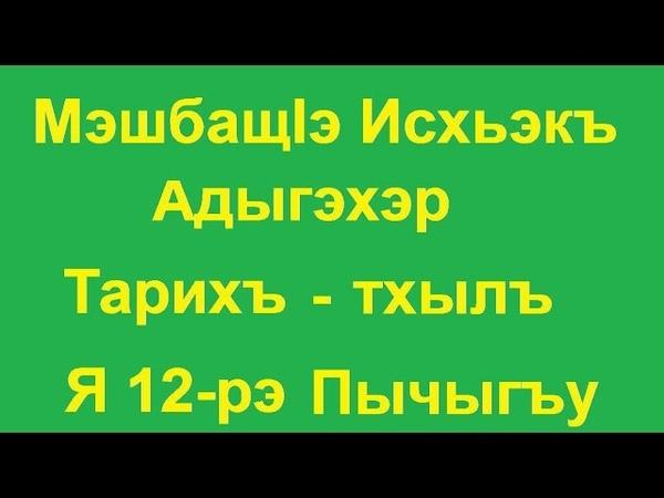 МэшбащIэ Исхьэкъ - Адыгэхэр - Тарихъ тхылъ - Я 12-рэ Пычыгъу
