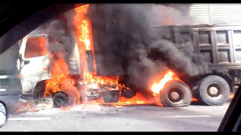 Грузовик взорвался на Минском шоссе - Подмосковье 2018 г.
