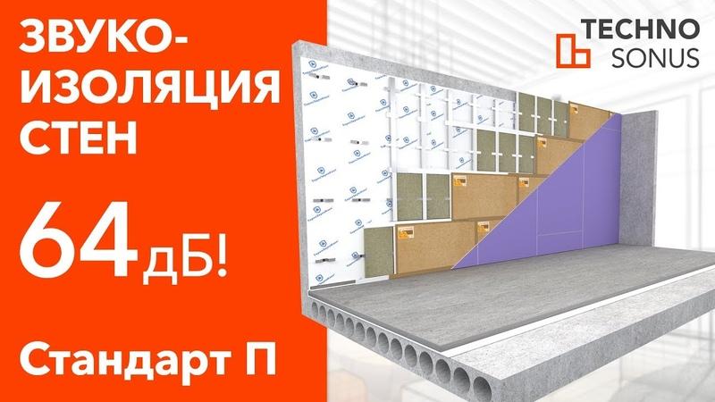 Инструкция монтажа Стандарт П для стен | Звукоизоляция квартиры | Шумоизоляция квартиры