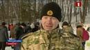 Военнослужащие внутренних войск приезжают к купели в вблизи поселка Городище