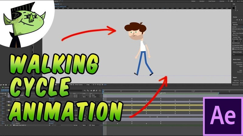 How to animate a walking cycle in After Effects - Tutorial