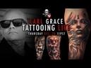 Carl Grace freehand tattoo