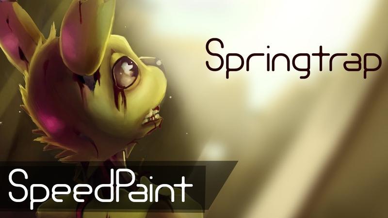 Springtrap (SPEEDPaint) Five nights at Freddy's 3 - Victim or murderer