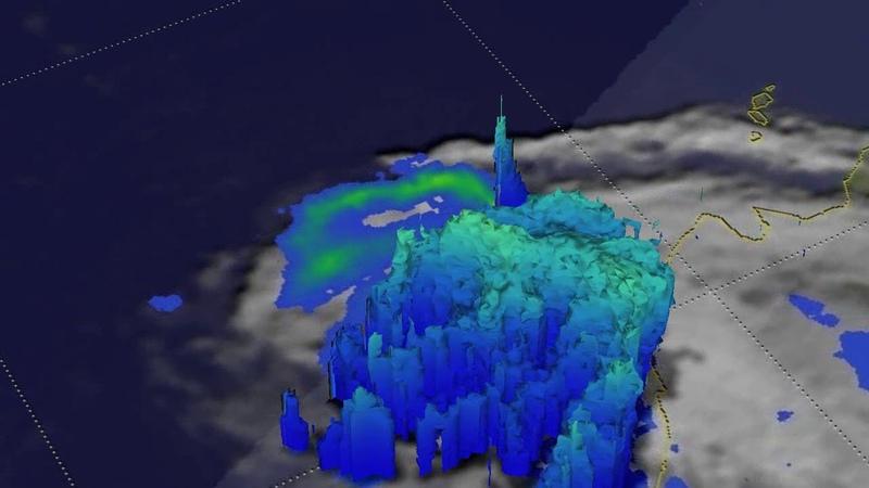 NASAs 3D Slice Through Tropical Storm Xavier